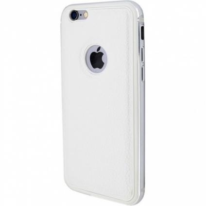 Чехол Evoque Metal + кожа iPhone 6/6S