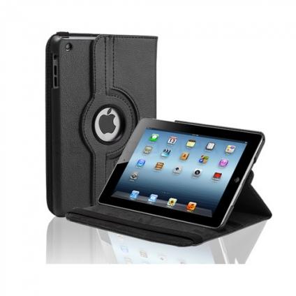 Кожаный чехол 360 Rotating для iPad mini 3/2/1 Черный