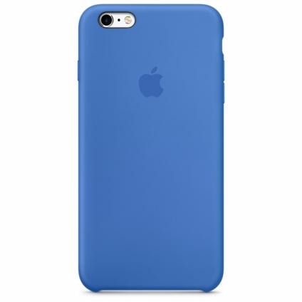 Силиконовый чехол Apple Silicone Case Royal Blue High copy для iPhone 6s Plus