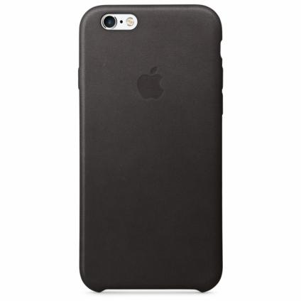 Кожаный чехол Apple Leather Case Black (MKXW2) для iPhone 6s