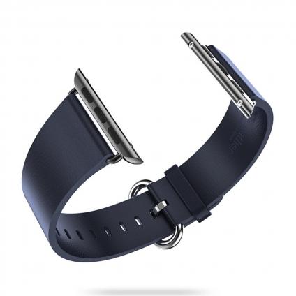 Кожаный ремешок Remax Leather Blue для Apple Watch 38mm