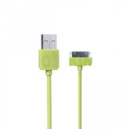 Оригинальный USB кабель REMAX для iPhone 4/4s Зеленый