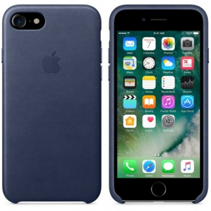 Чехол Apple iPhone 7 Leather Case Midnight Blue (MMY32ZM/A)