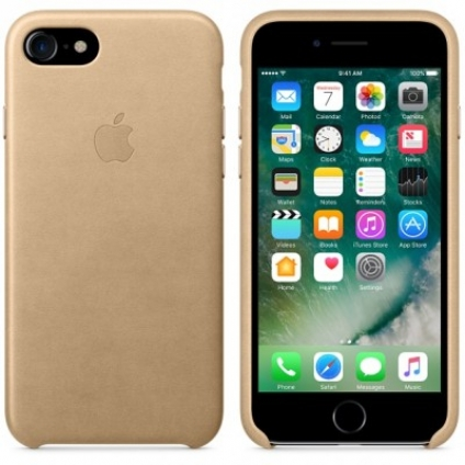 Чехол Apple iPhone 7 Leather Case Tan (MMY72ZM/A)