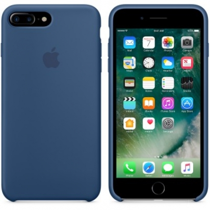 Чехол Apple iPhone 7 Plus Silicone Case Ocean Blue (MMQX2ZM/A)