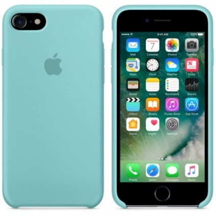 Чехол Apple iPhone 7 Silicone Case Sea Blue (MMX02ZM/A)