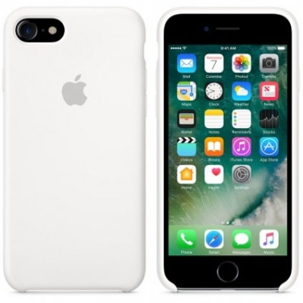Чехол Apple iPhone 7 Silicone Case White (MMWF2ZM/A)