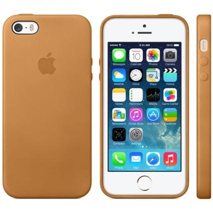 Чехол Apple Case  (MF041) для iPhone 5/5S/SE Brown