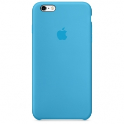 Силиконовый чехол Apple Silicone Case Sea Blue High copy для iPhone 6s Plus
