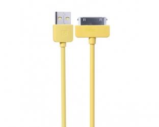 Оригинальный USB кабель REMAX для iPhone 4/4s Желтый