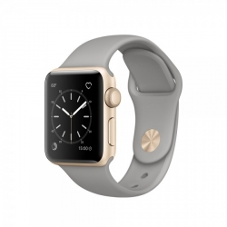 Apple Watch Series 1 38 mm Gold Aluminum Case with Concrete Sport Band (MNNJ2)
