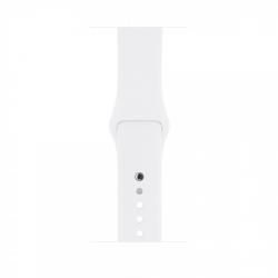Apple Watch Series 1 38 mm Silver Aluminum Case with White Sport Band (MNNG2)