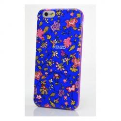 Чехол Kenzo для Apple iPhone 6 синий с цветами