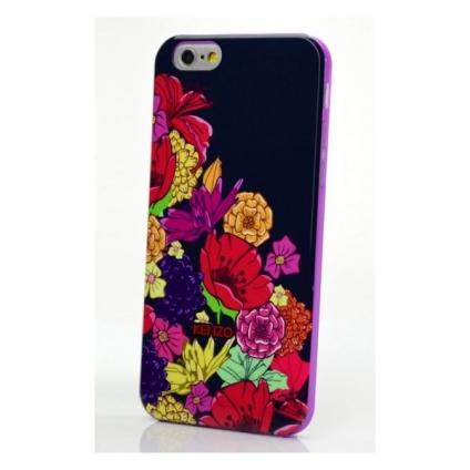Чехол Kenzo для Apple iPhone 6 черный с цветами